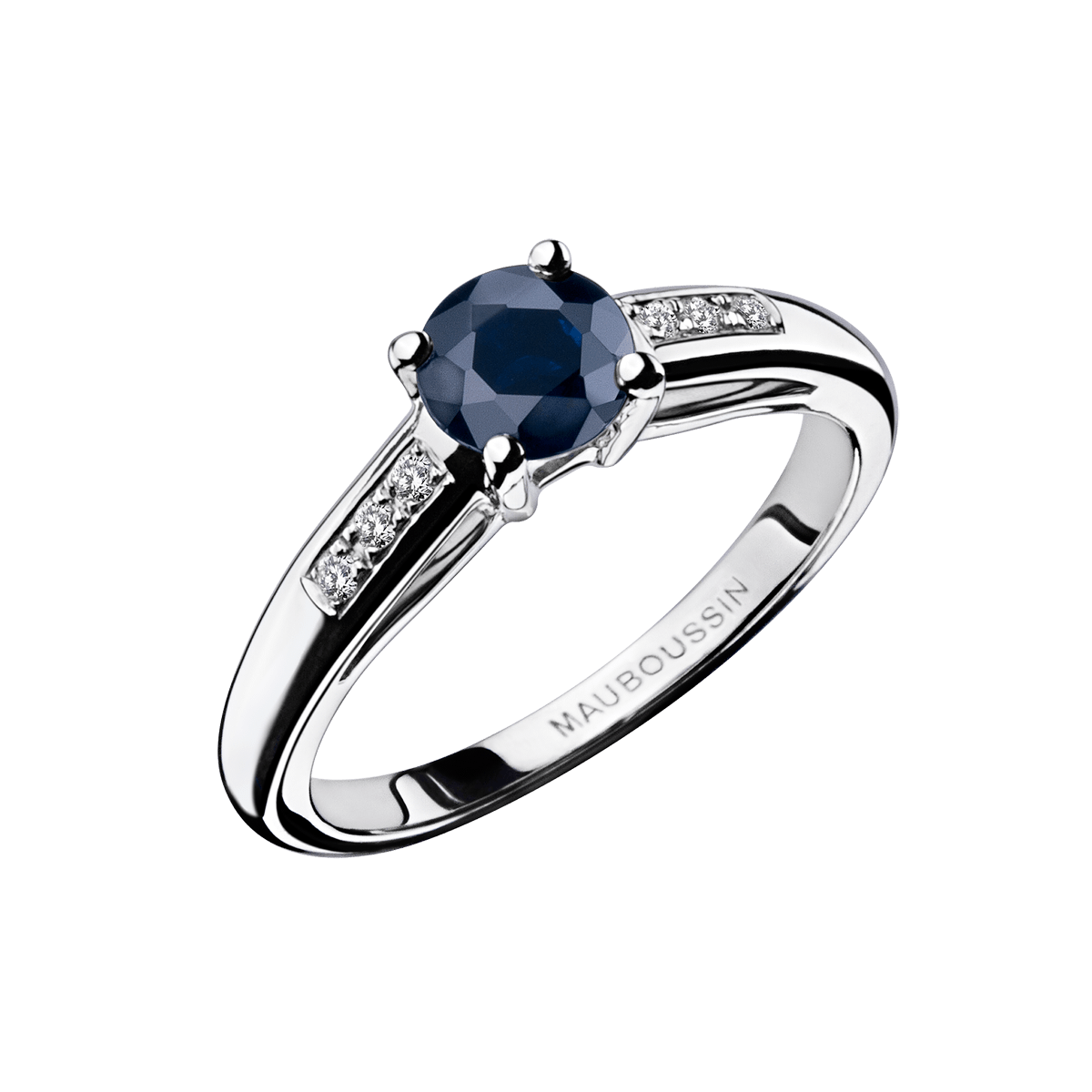 Souvent Bague Grand Mot d'Amour,or blanc, saphir et diamants - Mauboussin EF52