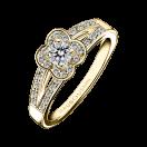 Bague Chance of Love n°2, or jaune et diamants