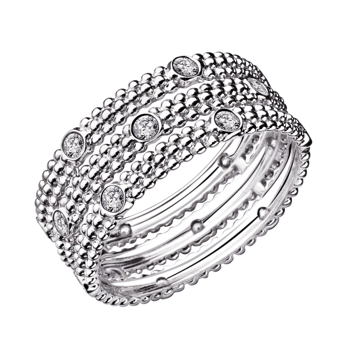 Favori Bague Le Premier Jour, or blanc, diamants - Mauboussin AQ88