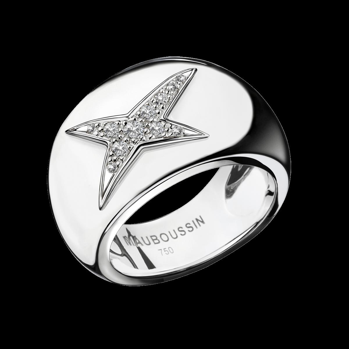 Souvent Bague Divine Cocotte N°2, or blanc et diamants - Mauboussin HL94