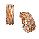 Le Premier Jour Earrings , pink gold and diamonds