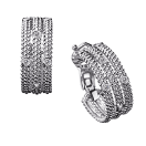 Earrings Le Premier Jour, white gold and diamonds