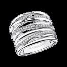 Kiff & Kiss Ring , white gold and diamonds