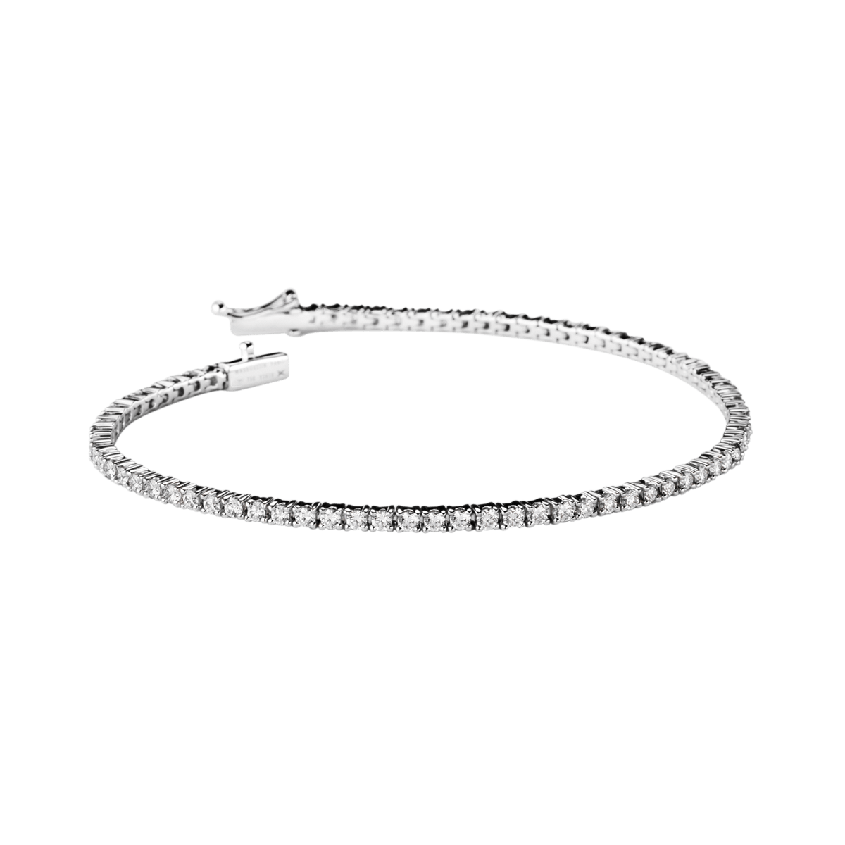 Bracelet Riviere d\u0027Amour, or blanc et diamants