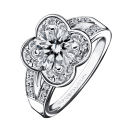 Chance of Love N°10 Ring, white gold and diamonds