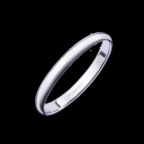 Alliance 1/2 Jonc, or blanc 2mm