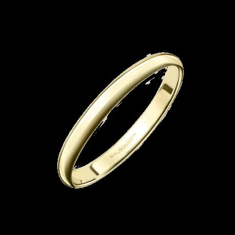 Alliance 1/2 Jonc, or jaune 2mm