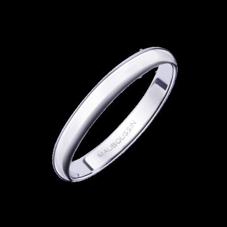 Alliance 1/2 Jonc, or blanc 3mm