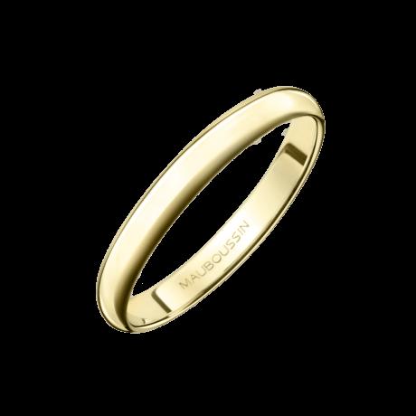 Alliance 1/2 Jonc, or jaune 3mm