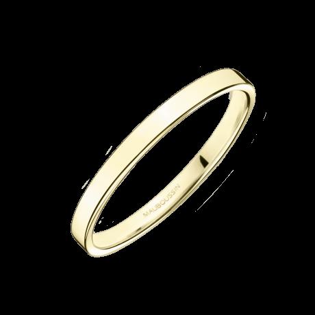 Alliance Bonheur, or jaune 2mm