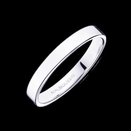 Alliance Bonheur, or blanc 3mm