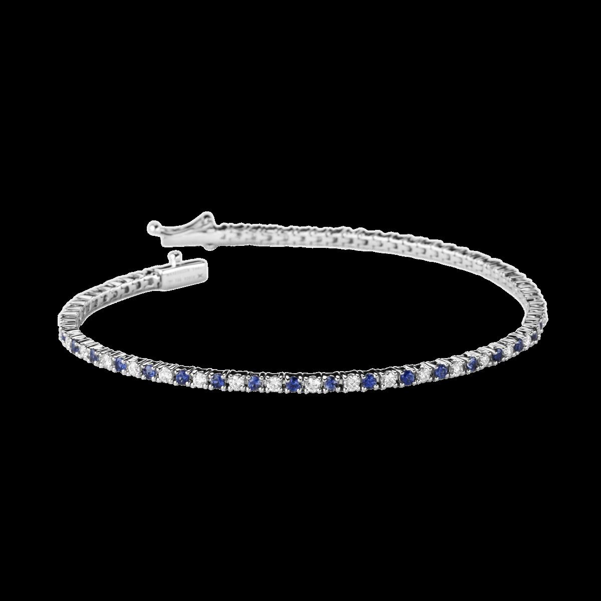 regard détaillé bdee5 4cc3f Bracelet Le Grand Bleu, or blanc, saphirs et diamants ...