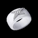 Bague L'Etoile de l'Ange, céramique blanche, or blanc, diamants