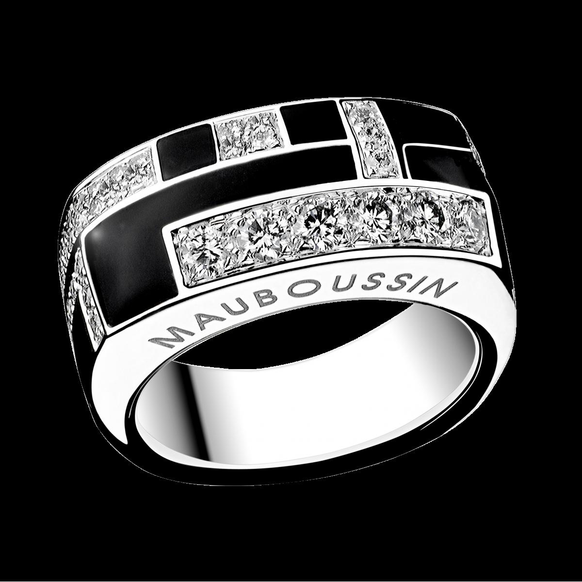 bague diamant noir mauboussin