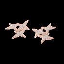 BOUCLES D'OREILLES A JAMAIS MON ETOILE n.5        OR ROSE, DIAMANTS